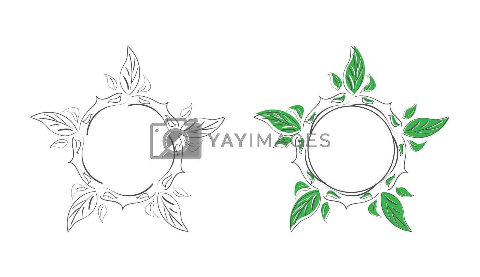 Royalty free image of set of decorative patterned doodle-style frames for photos, illustrations, text, and creative design by Grommik