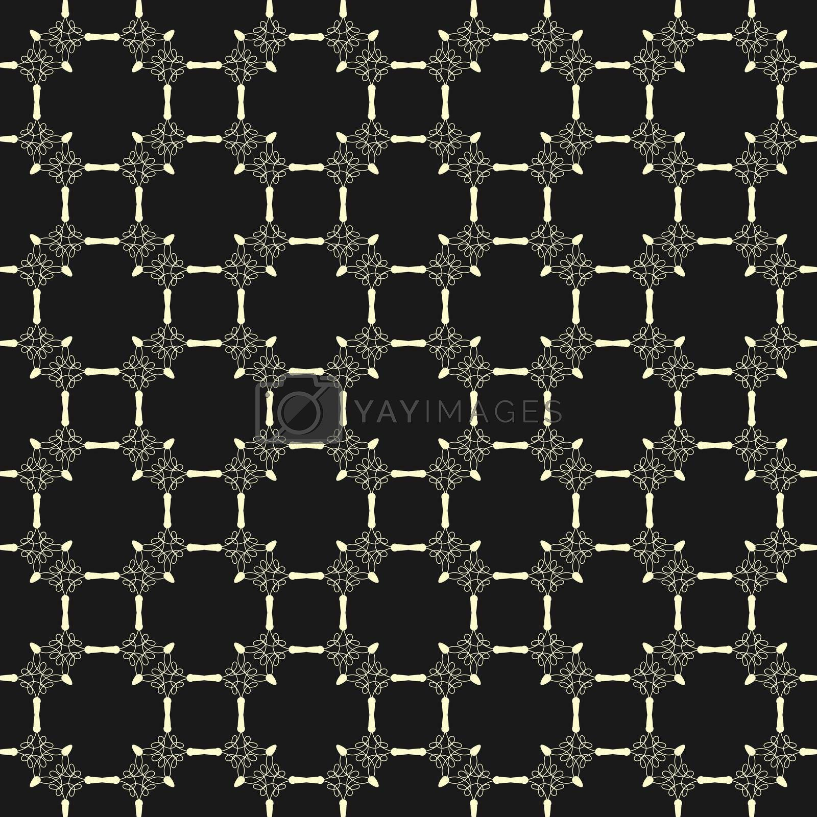 Royalty free image of Seamless openwork pattern for textures, textiles, packaging and simple backgrounds by Grommik