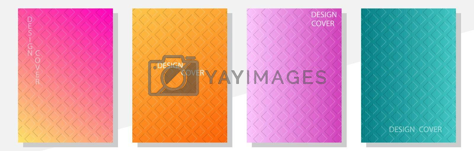 Royalty free image of Geometric cover design templates A-4 format. Editable set of layouts for covers of books, magazines, notebooks, albums, booklets by Grommik