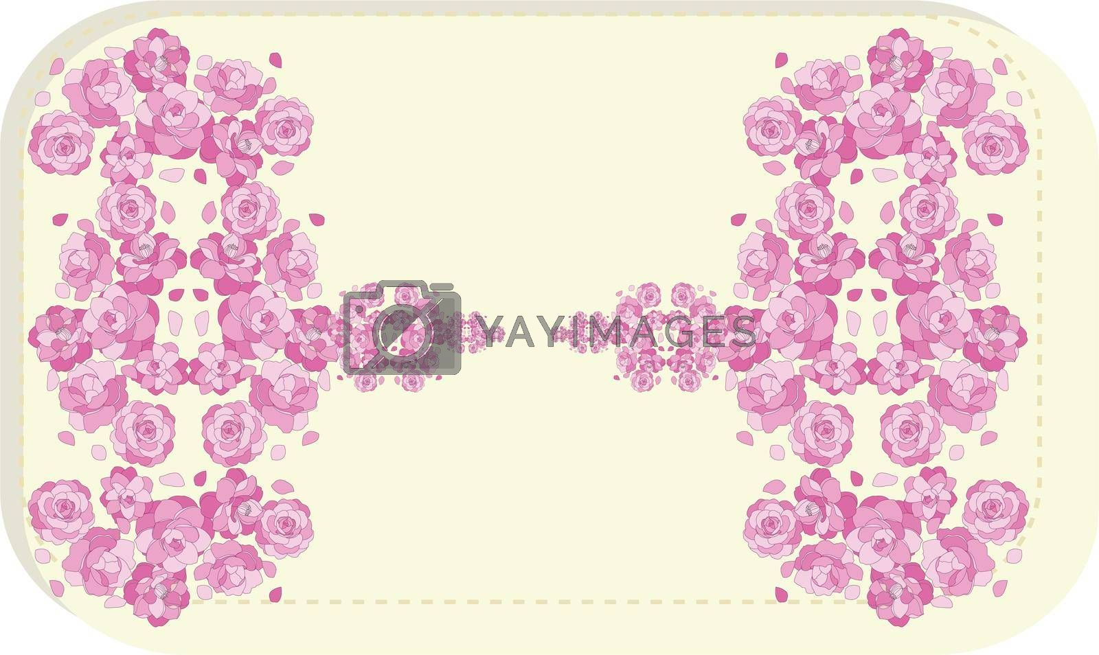 Bed of red roses on abstract background