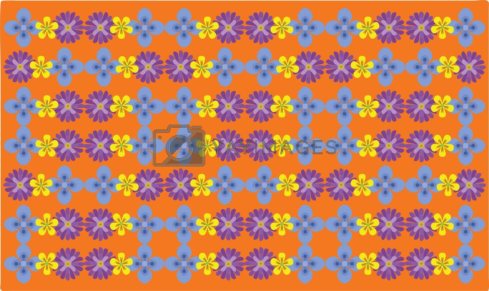 Royalty free image of Various Flowers on abstract background by aanavcreationsplus