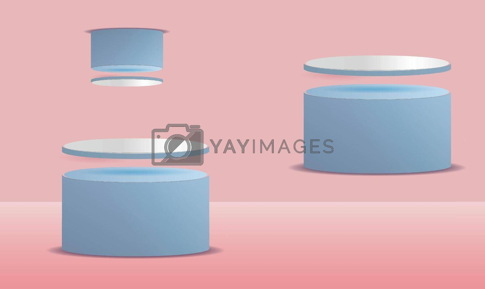 abstract creative design of small and big circle on pink background