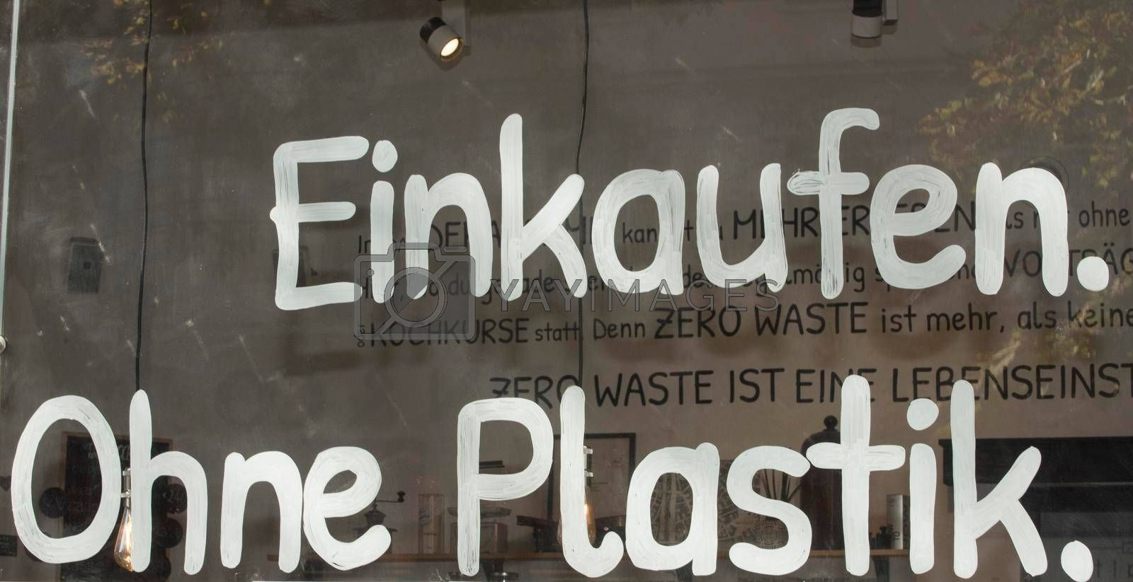 plastic waste prevention and reduction of garbage for environmental protection