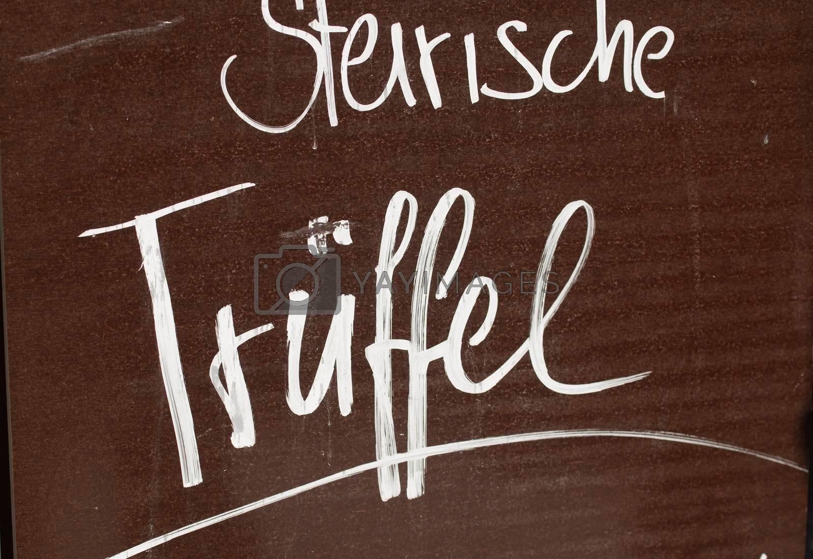 truffles as a spice in haute cuisine, an edible mushroom or fungus