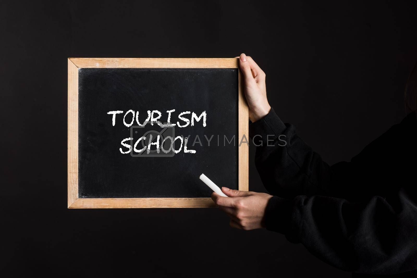 a tourism school or hotel school sign, symbol for education