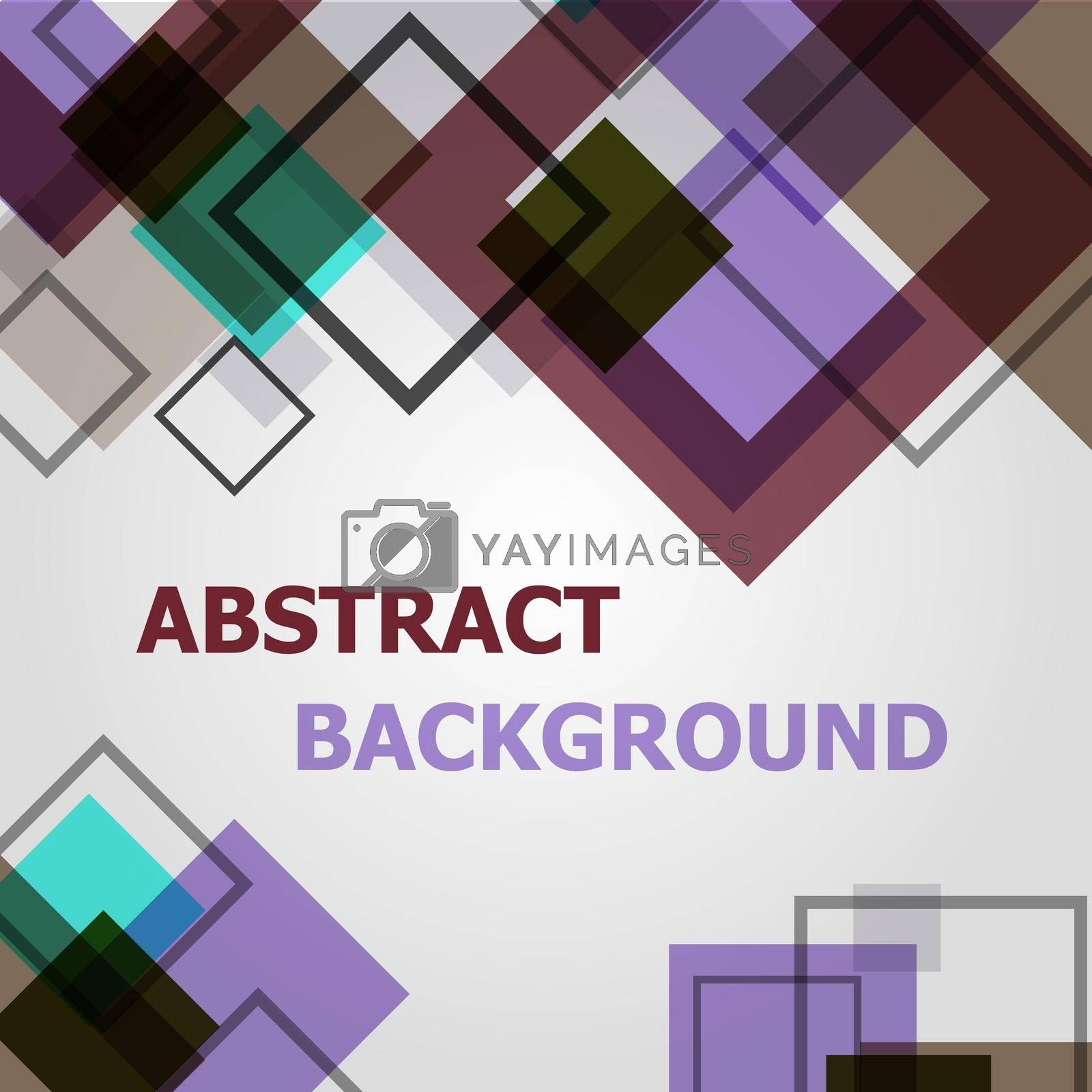 Royalty free image of Abstract square geometric pattern design background by punsayaporn