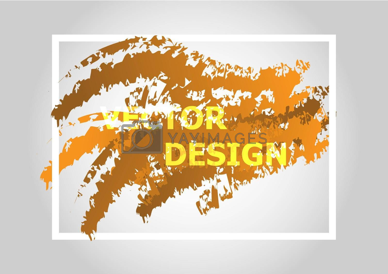 Royalty free image of Abstract background with orange gradient by punsayaporn
