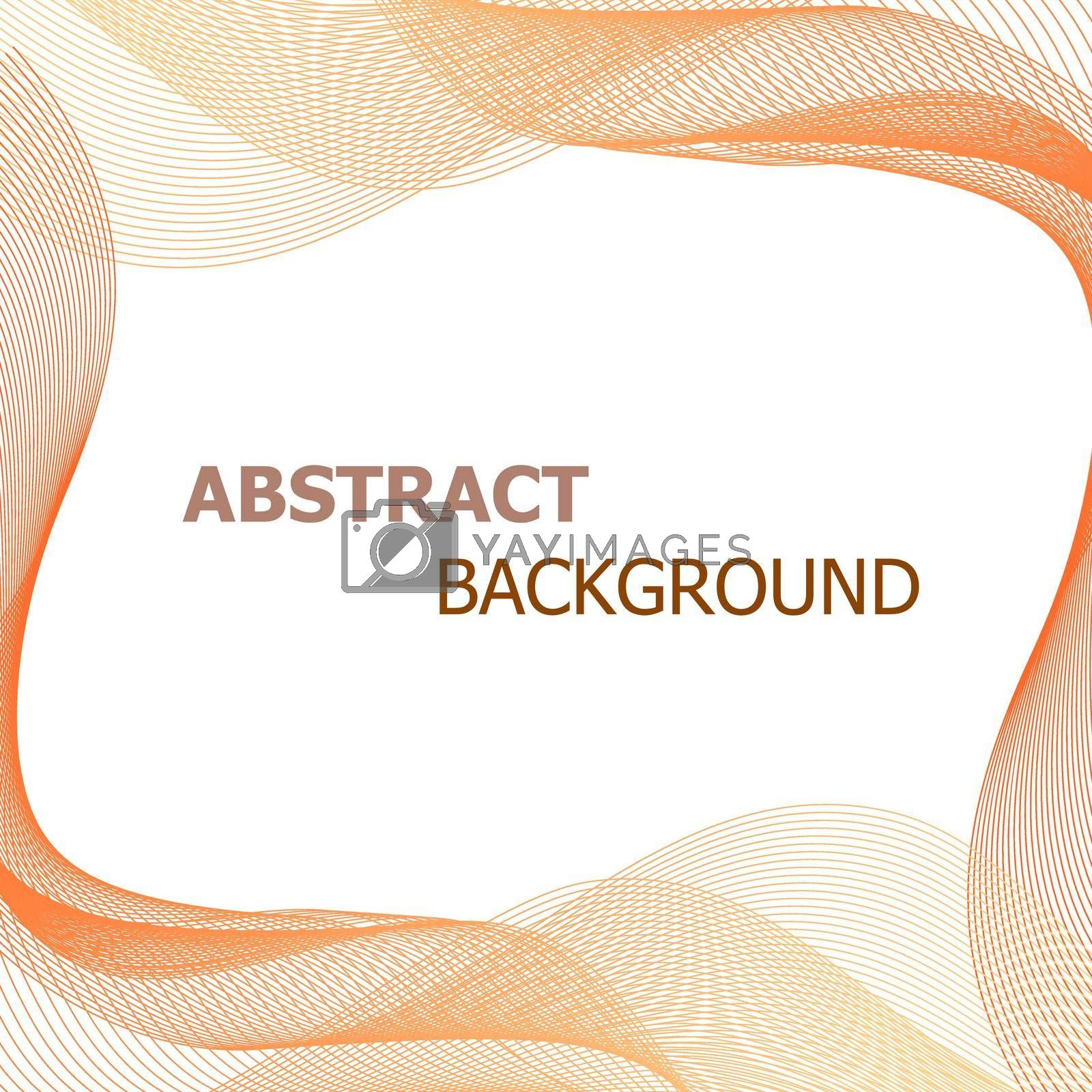 Royalty free image of Abstract background with orange lines wave by punsayaporn