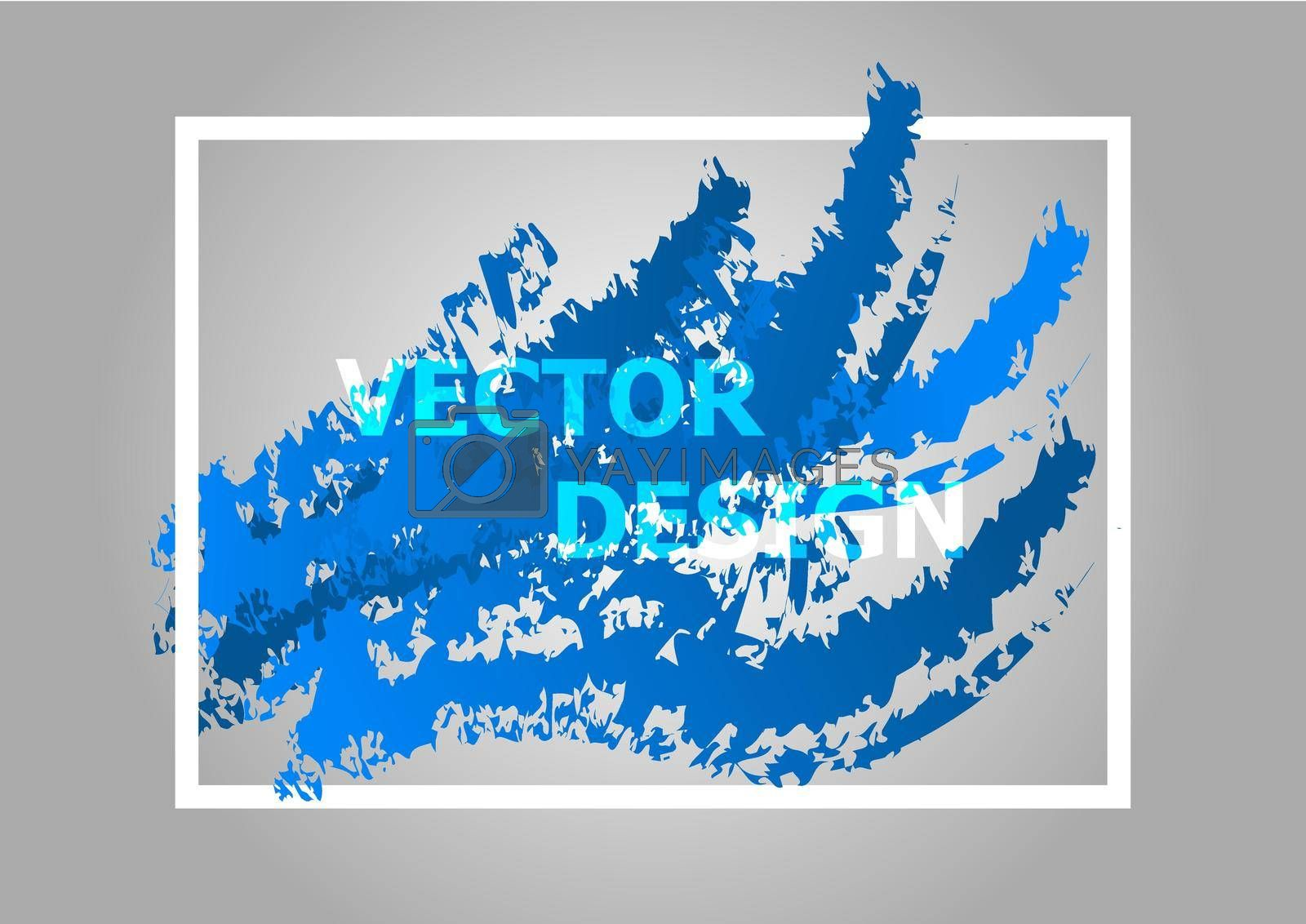 Royalty free image of Abstract background with blue gradient by punsayaporn
