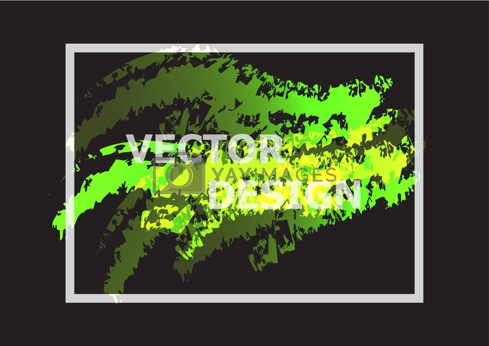 Royalty free image of Abstract background with green and yellow gradient by punsayaporn