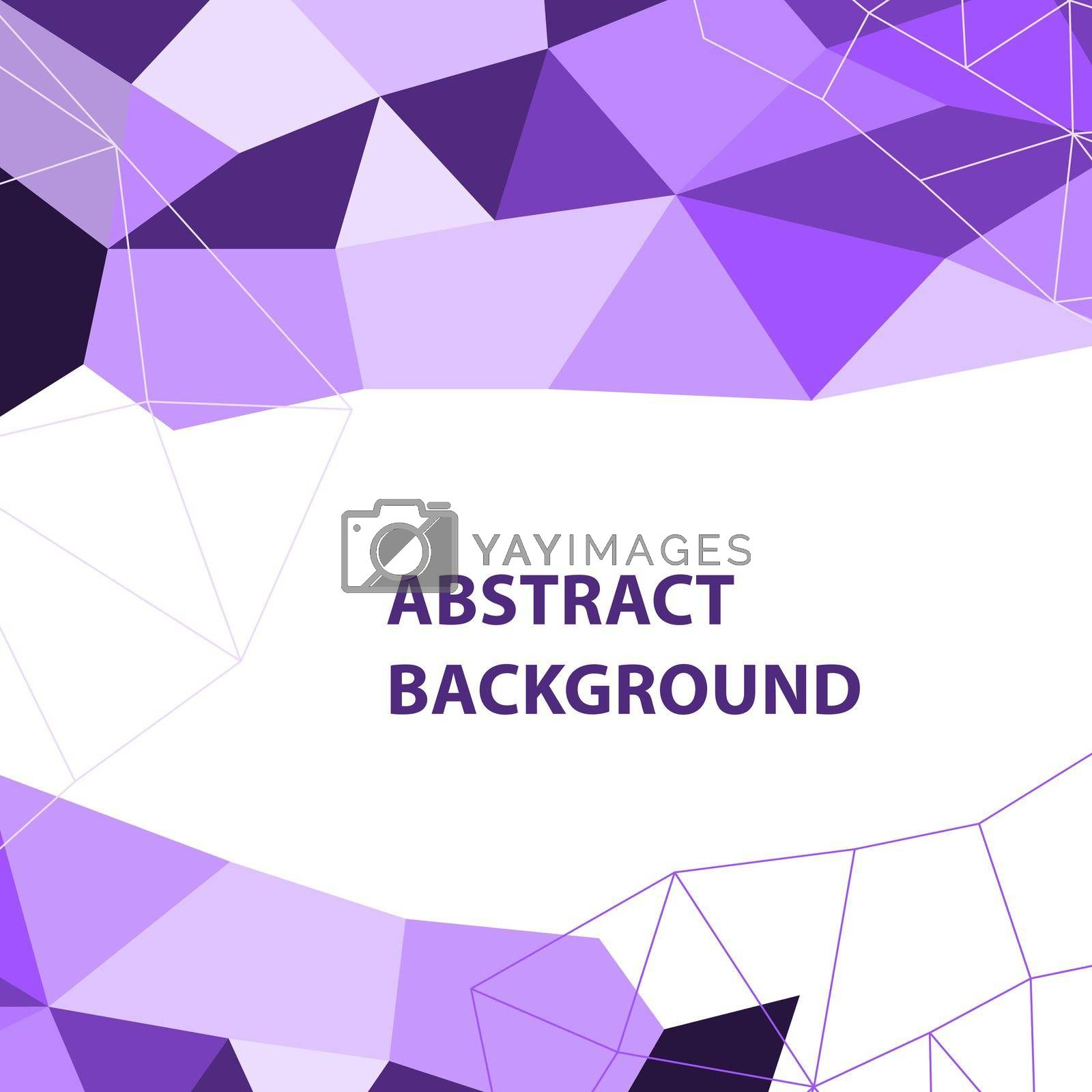 Royalty free image of Abstract purple geometric background with polygon design by punsayaporn