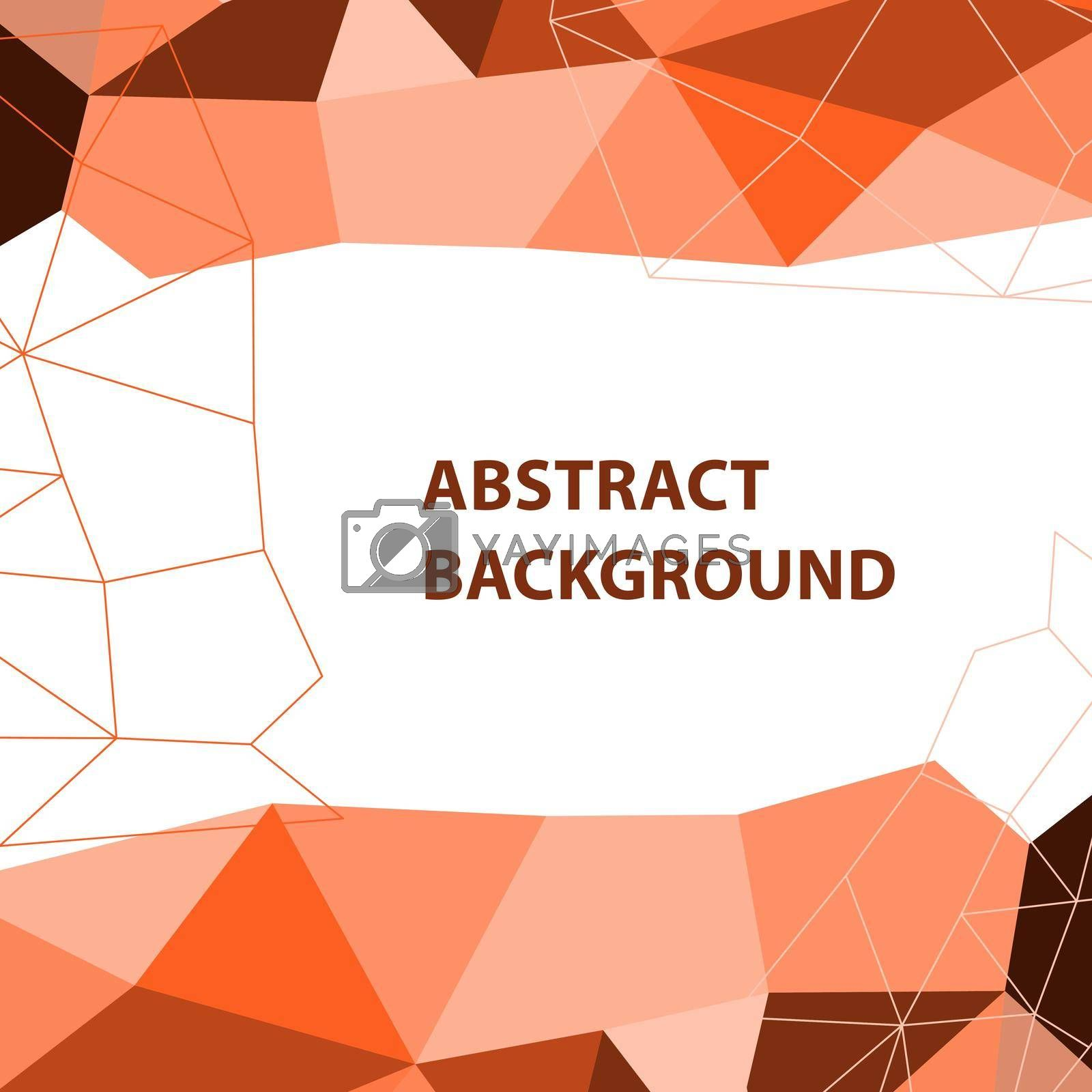 Royalty free image of Abstract orange geometric background with polygon design by punsayaporn