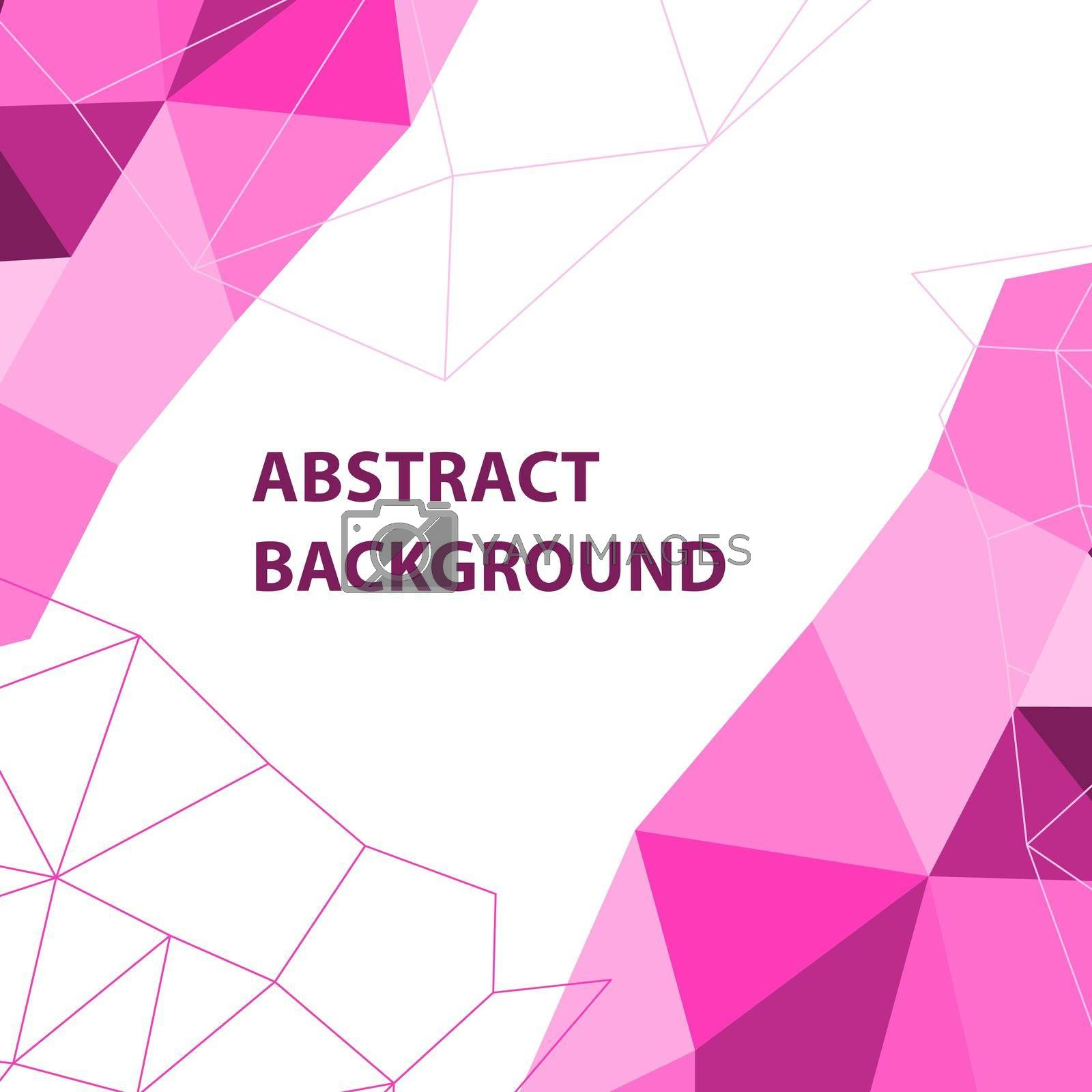 Royalty free image of Abstract pink geometric background with polygon design by punsayaporn