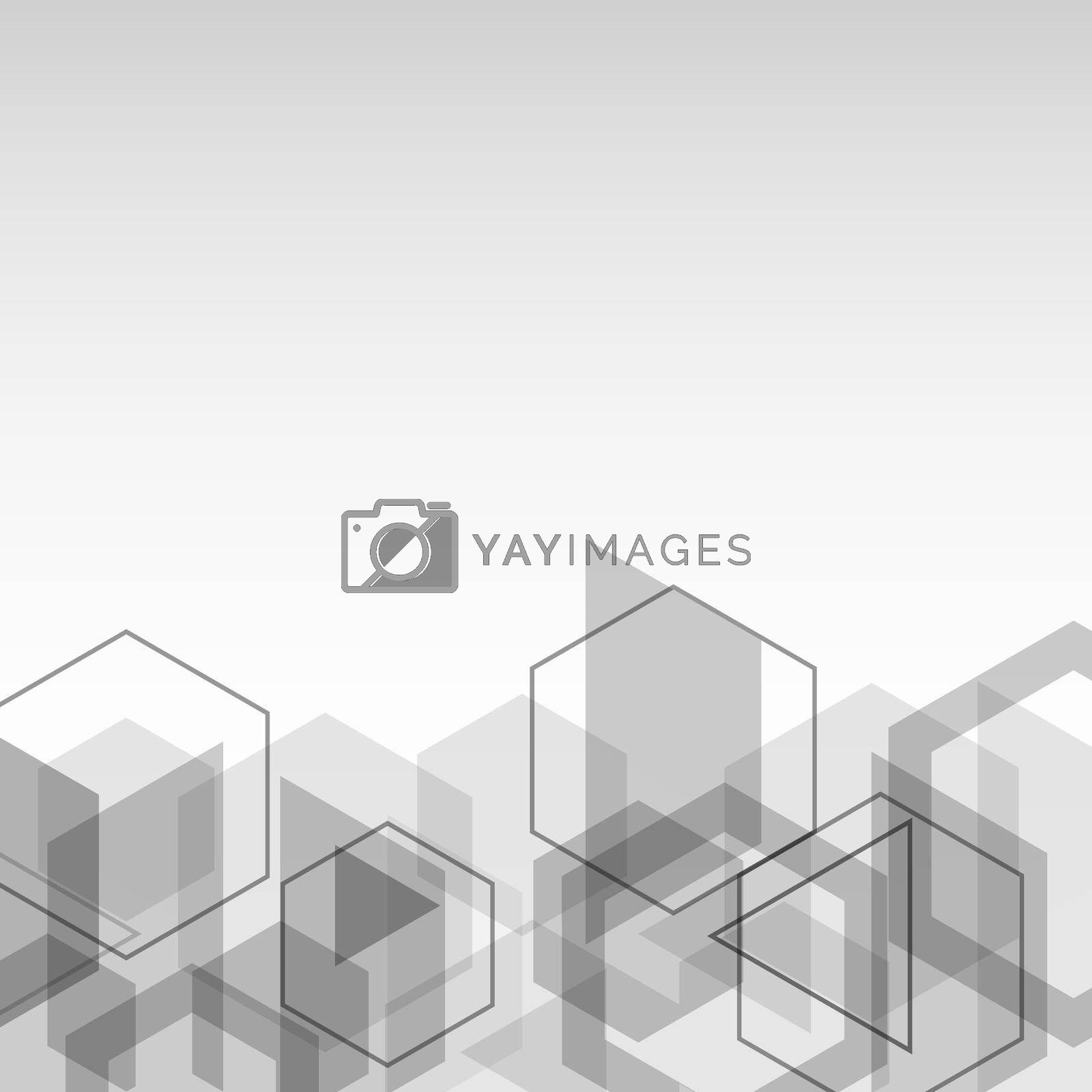 Royalty free image of Abstract background with gray cubes geometric shape by punsayaporn