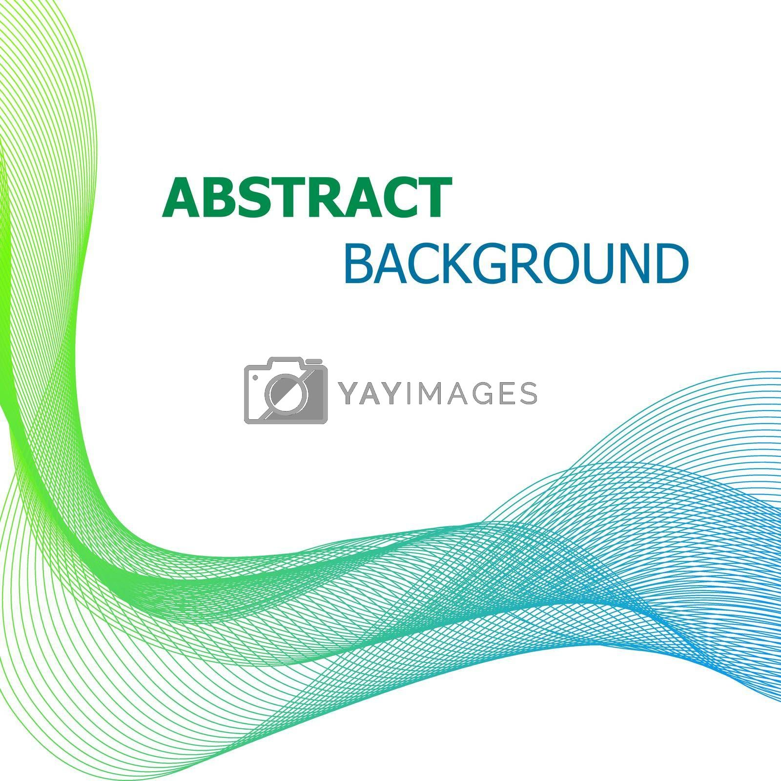 Royalty free image of Abstract background with green and blue line wave by punsayaporn