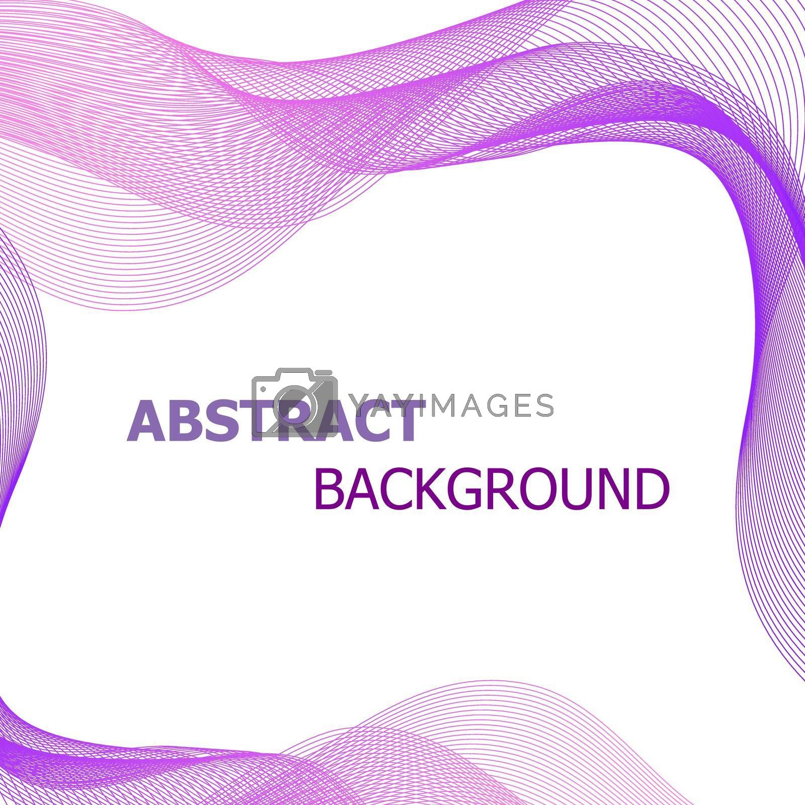 Royalty free image of Abstract background with pink and purple lines wave by punsayaporn