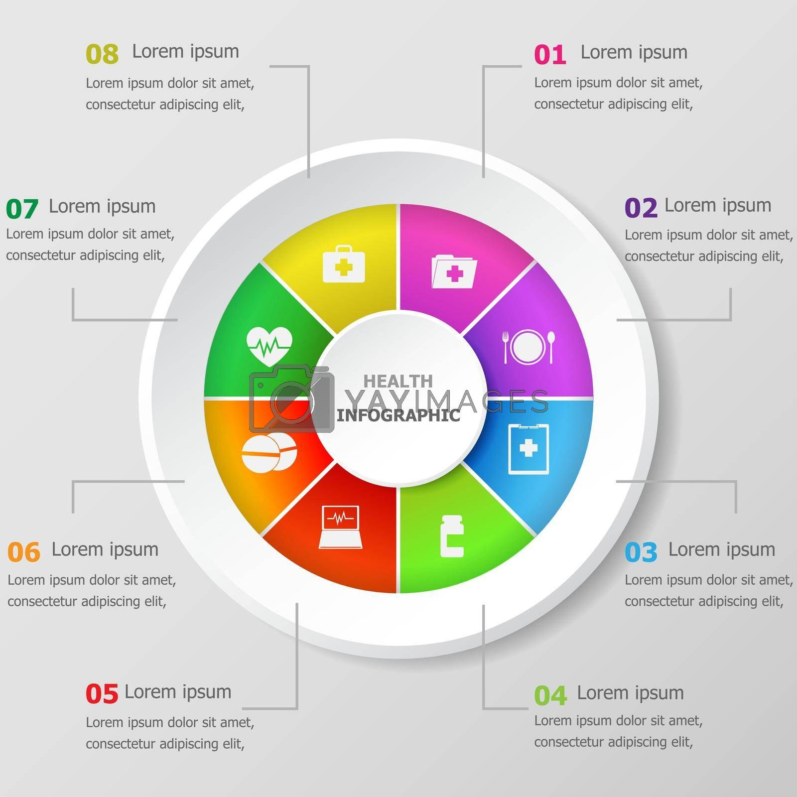 Royalty free image of Infographic design template with health icons by punsayaporn