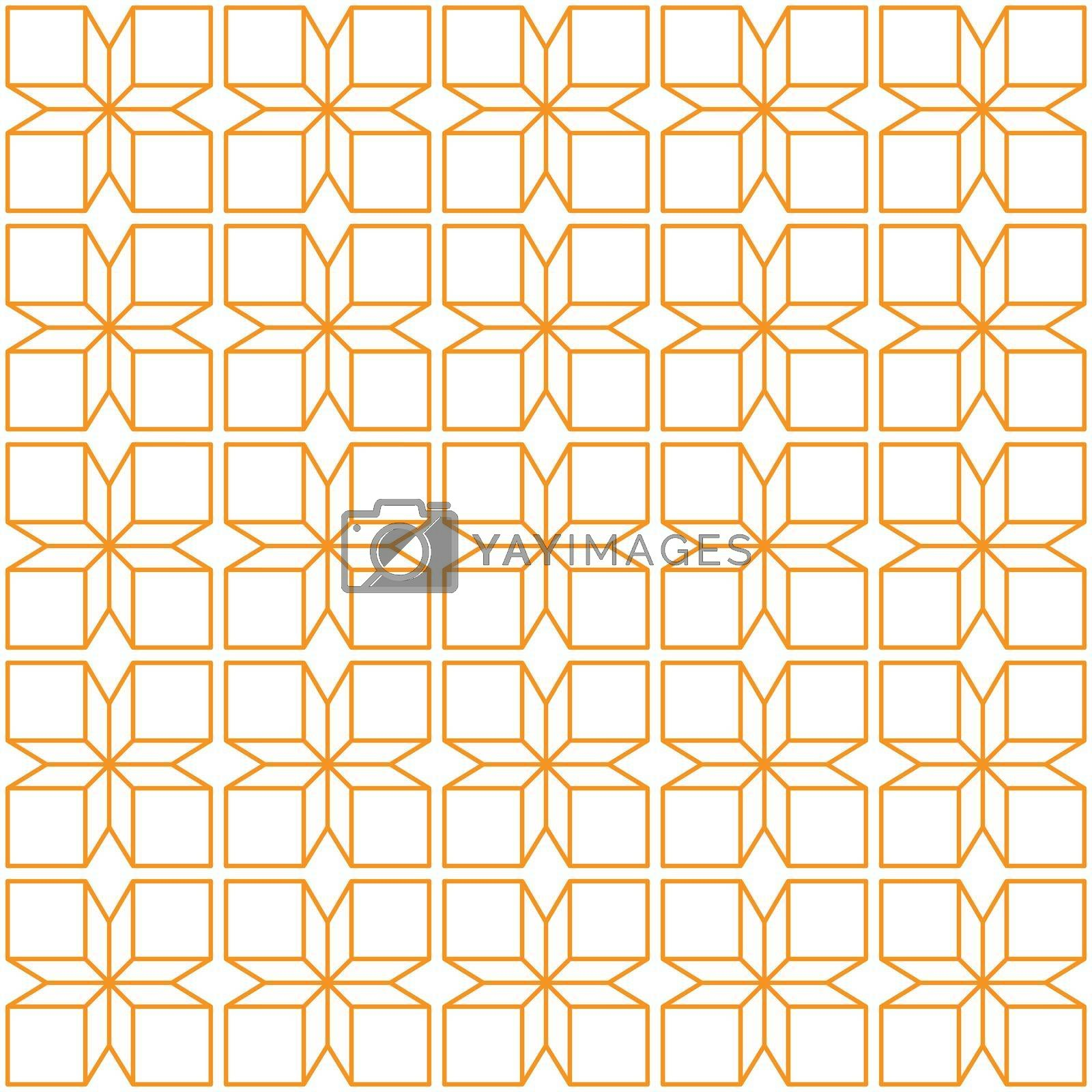 Seamless geometric pattern of squares and diamonds for texture, textiles, prints, and simple backgrounds, flat style