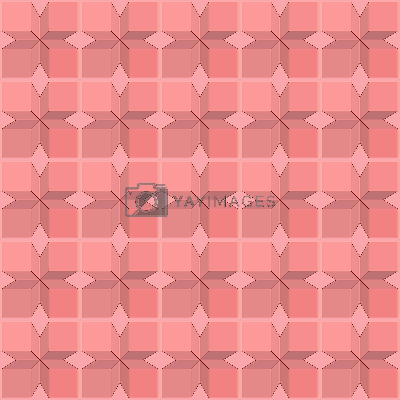 Seamless geometric pattern of squares for texture, textiles, prints, and simple backgrounds, flat style