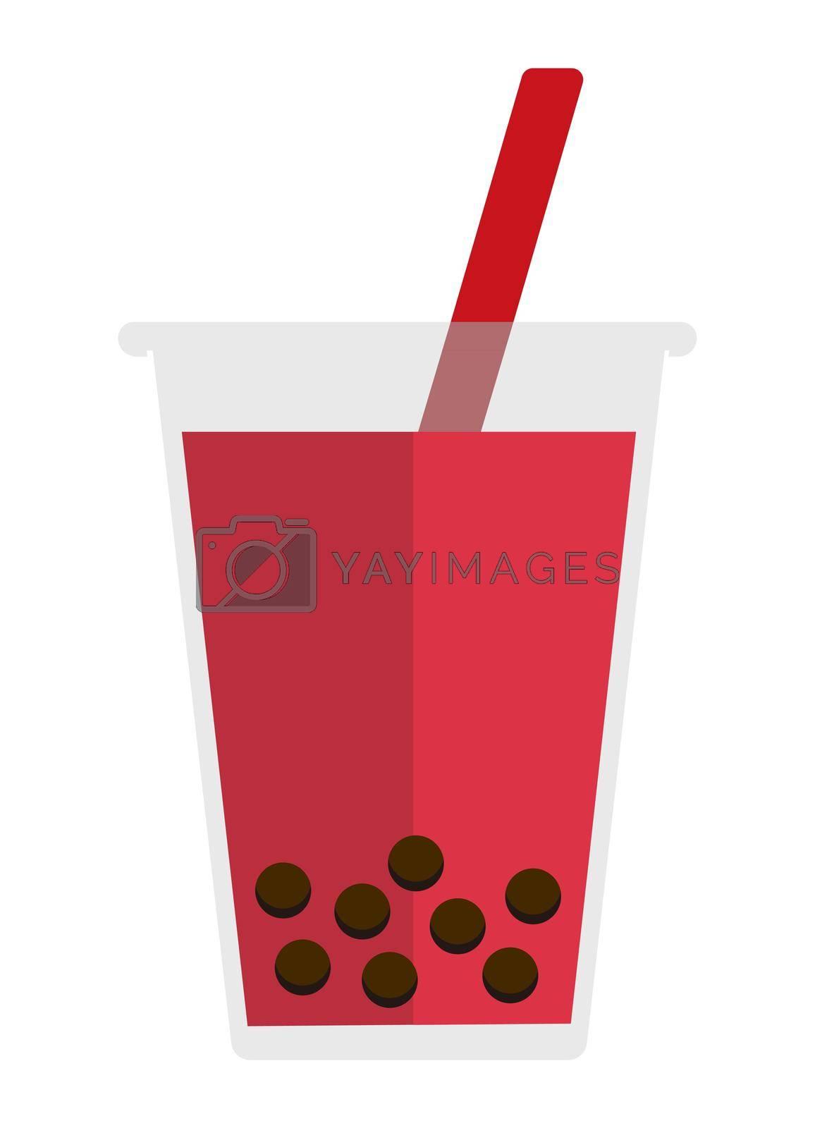 bubbles tea / bubbles soda flat vector  illustration