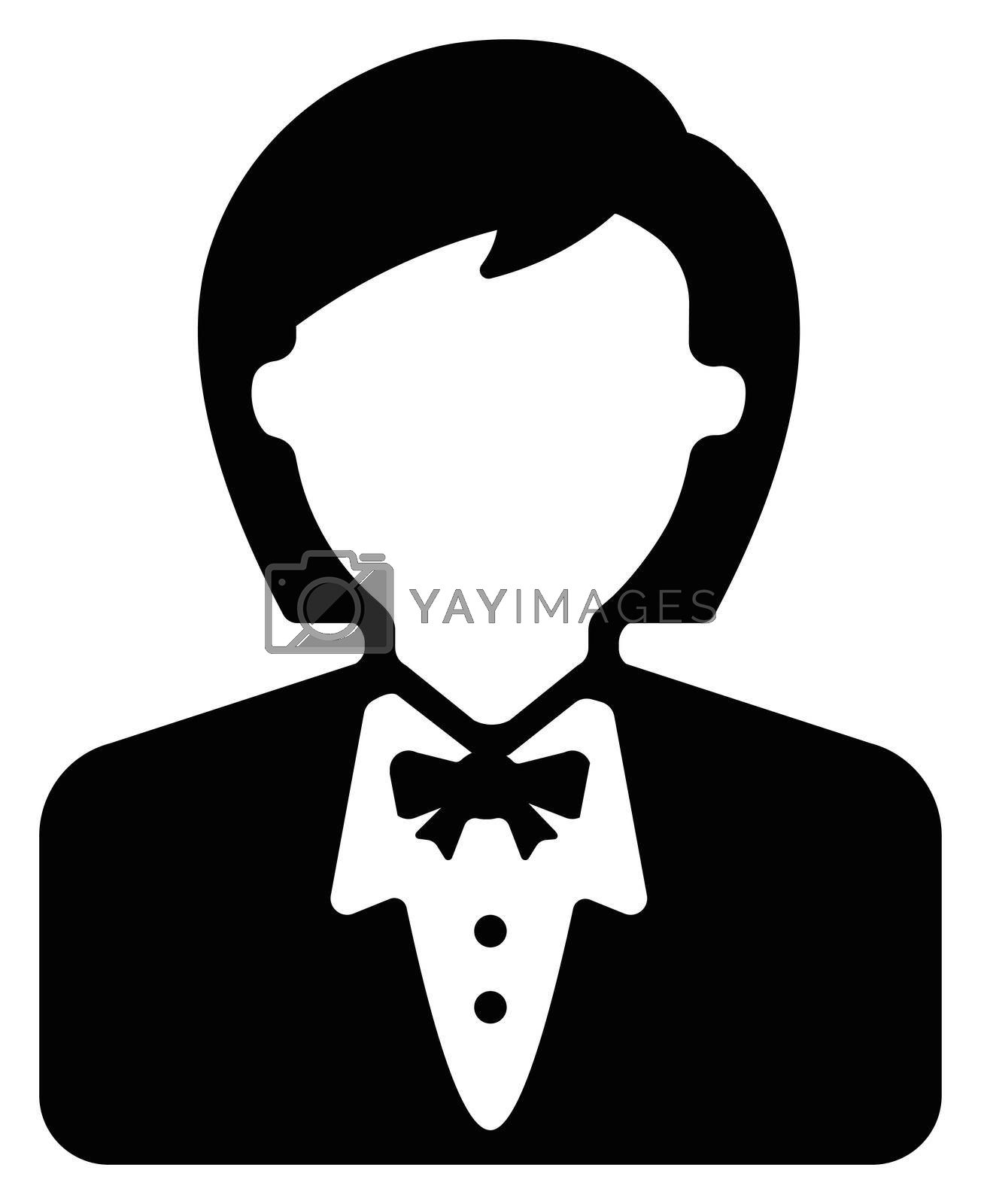 Female worker , female business person / avatar icon illustration (upper body)