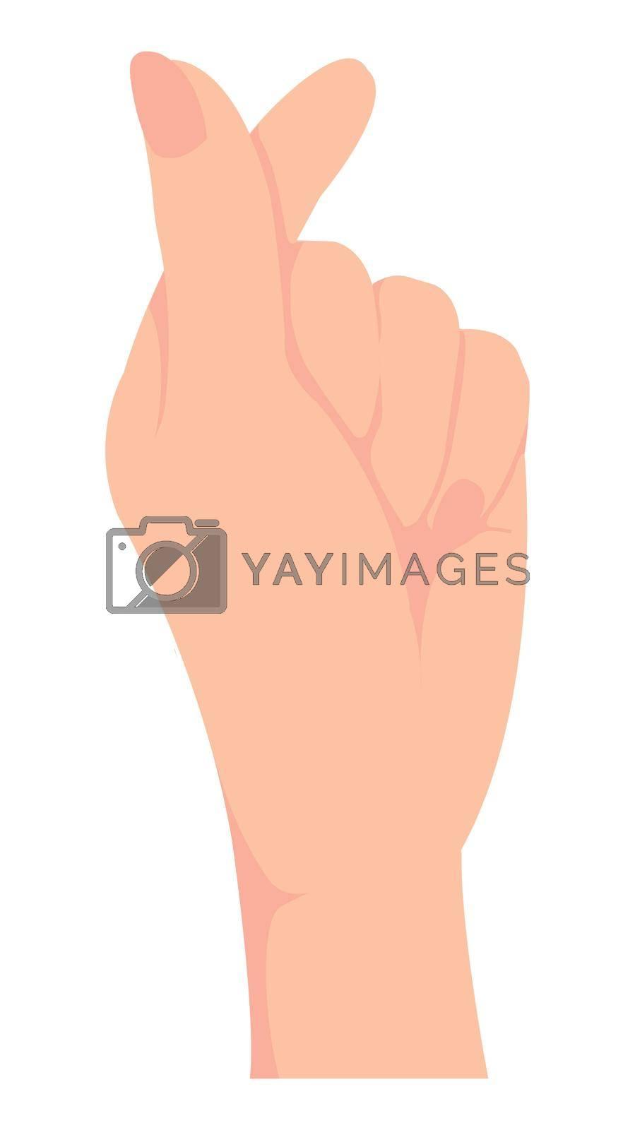 Female hand gesture (hand sign) vector illustration