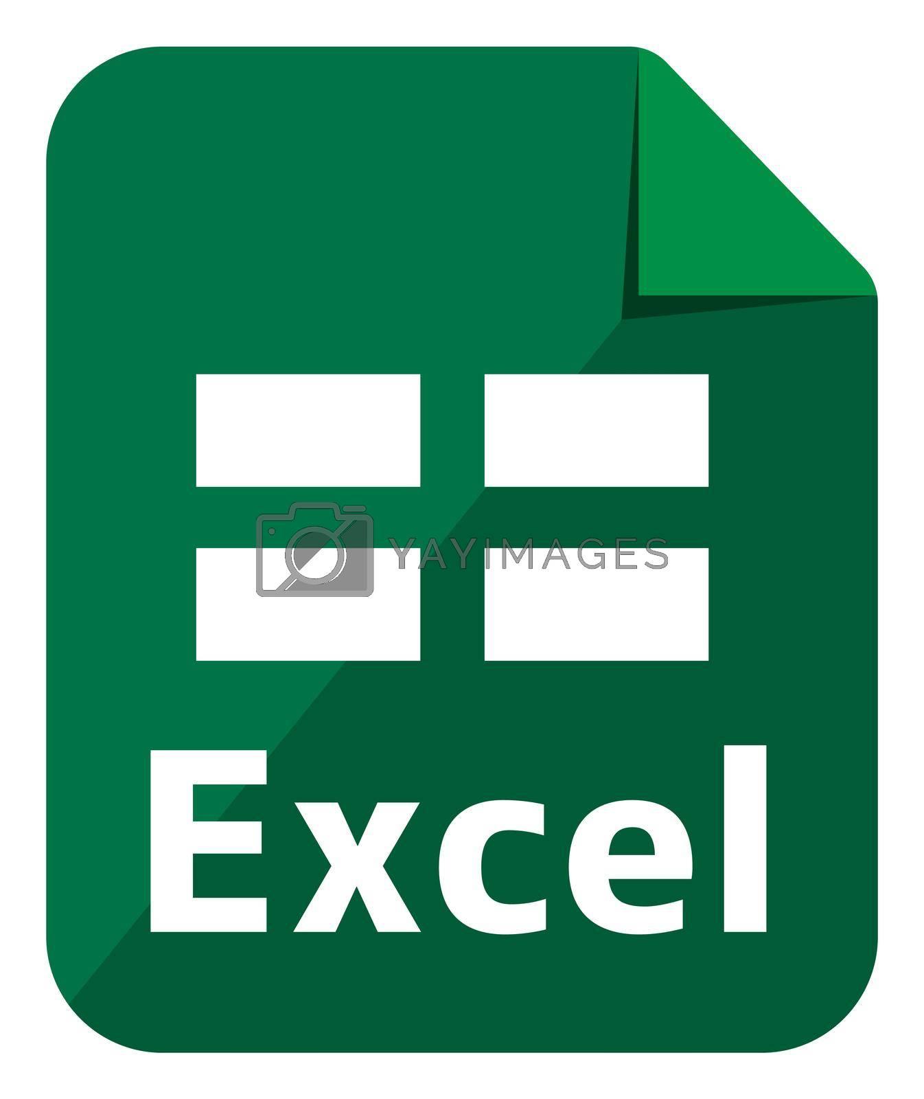 Excel icon   Major file format vector icon illustration  ( color version )