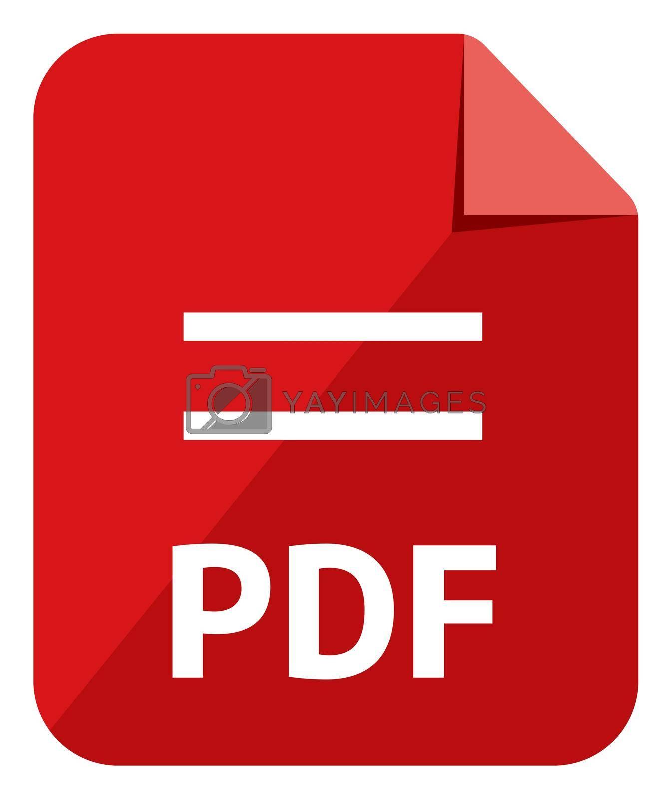PDF icon   Major file format vector icon illustration  ( color version )