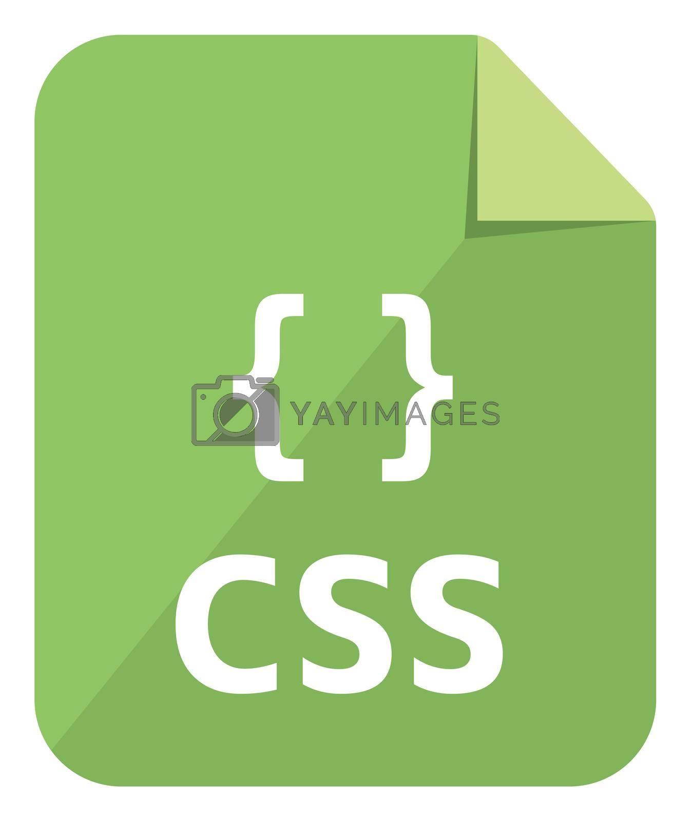 CSS icon   Major programming language vector icon illustration  ( color version )