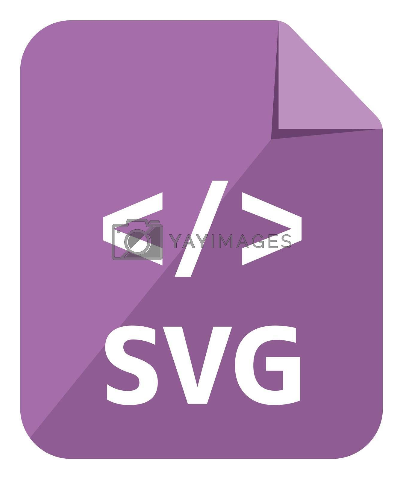 SVG icon   Major file format vector icon illustration  ( color version )