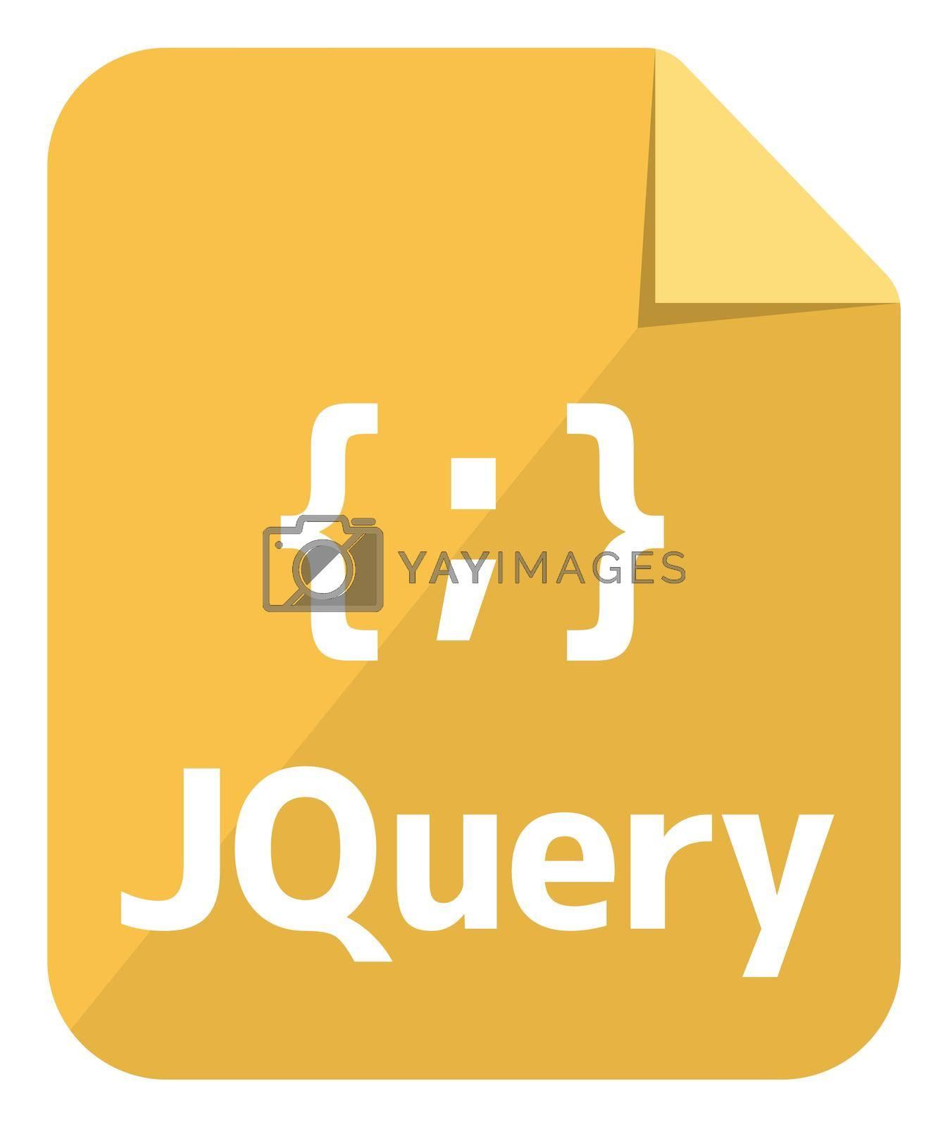 JQuery icon   Major programming language vector icon illustration  ( color version )