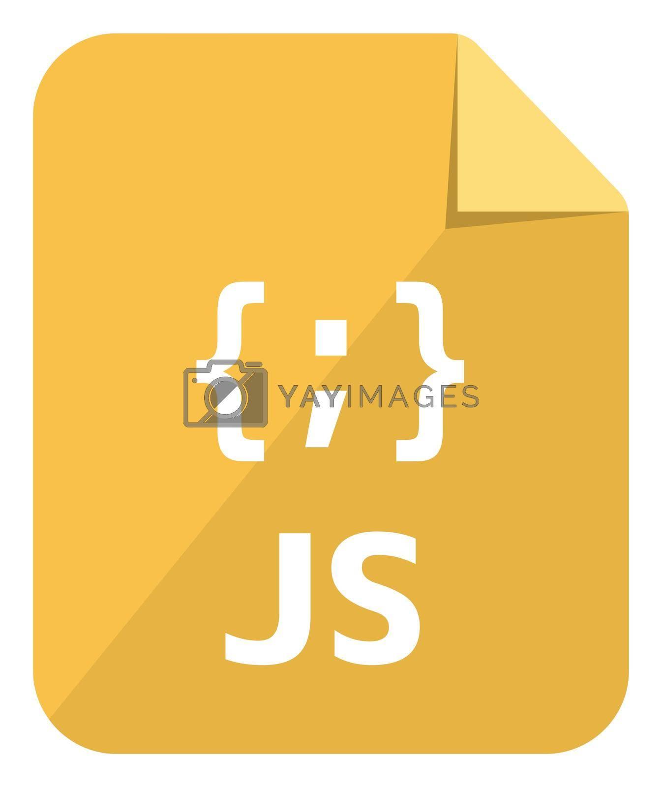 Javascript icon   Major programming language vector icon illustration  ( color version )