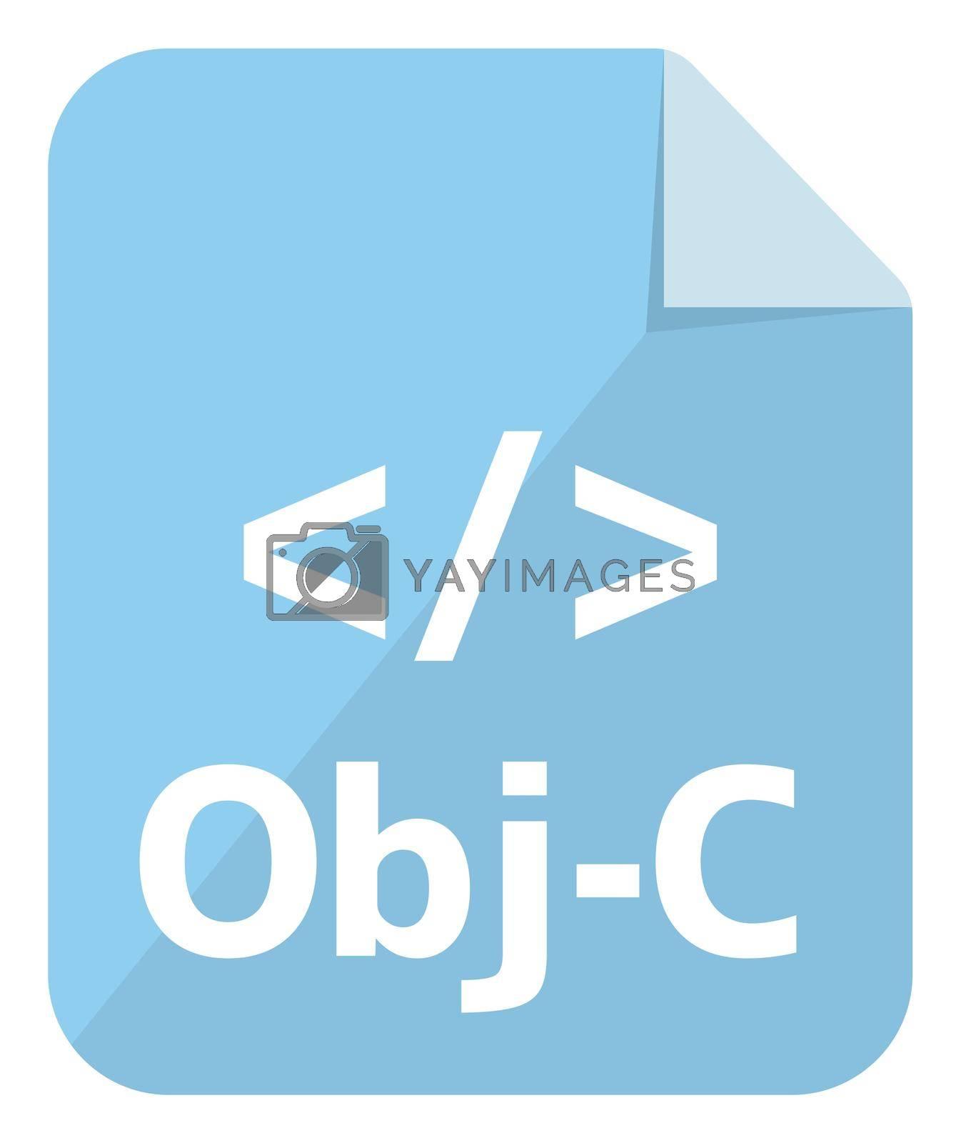 Objective-C icon   Major programming language vector icon illustration  ( color version )