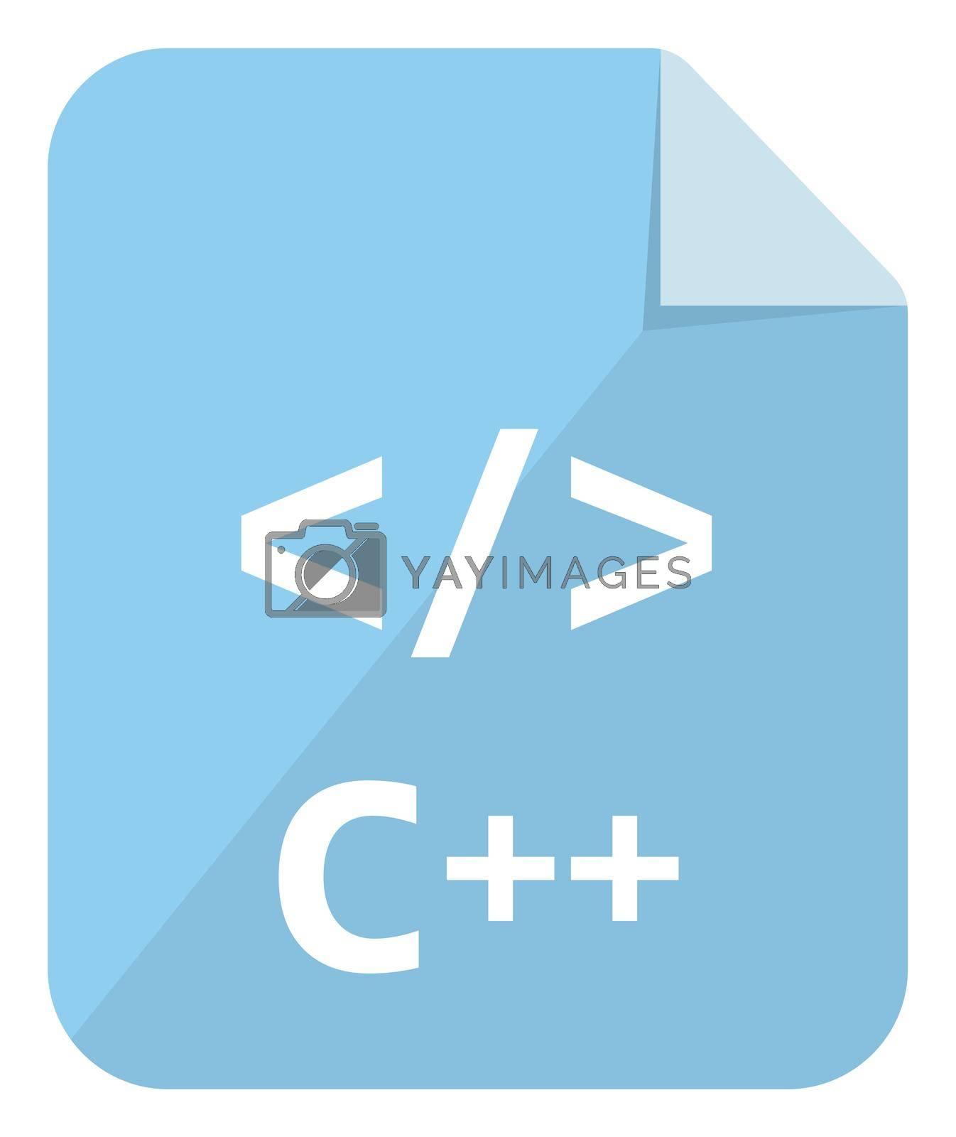 C ++ icon   Major programming language vector icon illustration  ( color version )