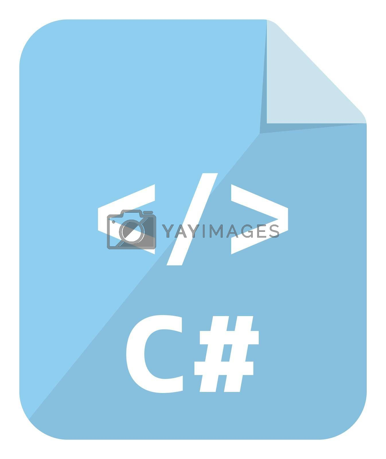 C# icon   Major programming language vector icon illustration  ( color version )