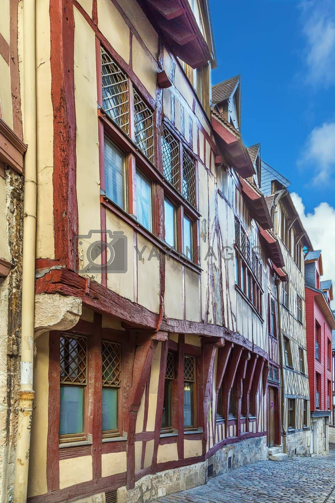 Royalty free image of Street in Rouen, France by borisb17