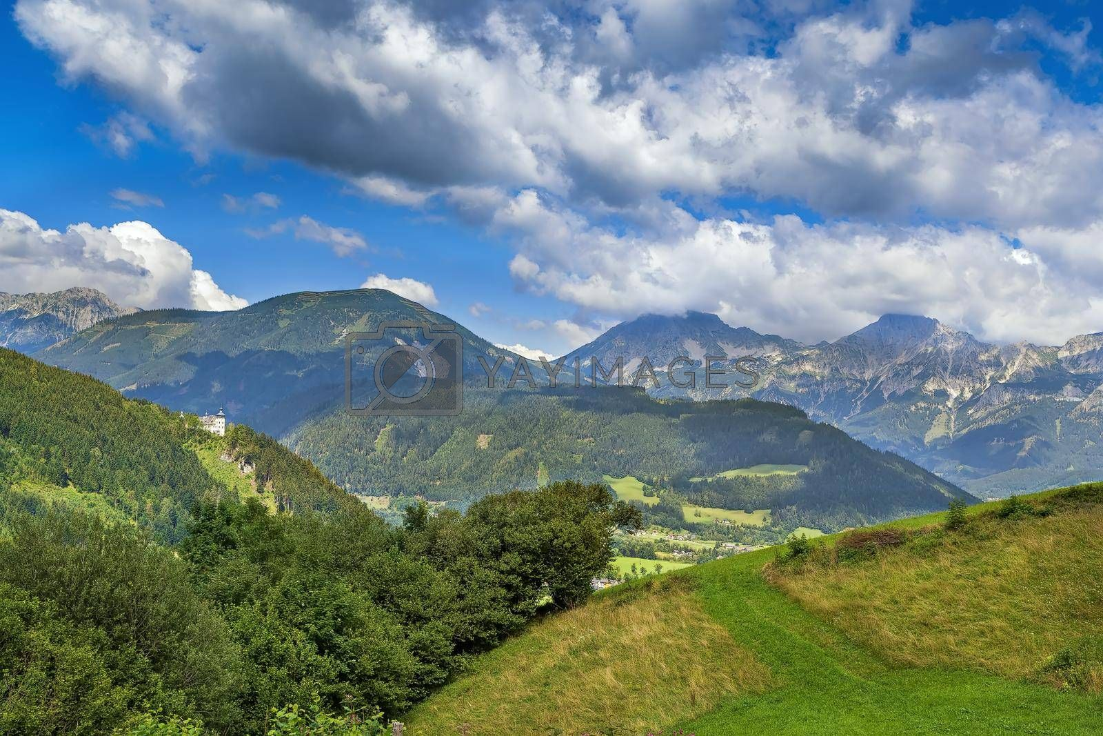 Royalty free image of View of Alps mountain, Styria, Austria by borisb17