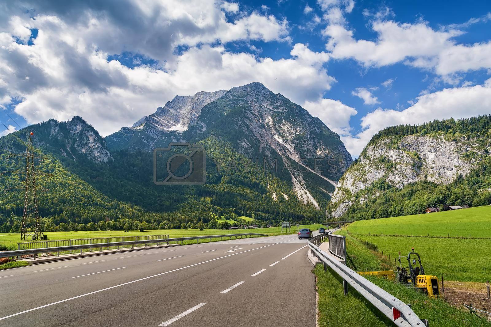 Royalty free image of Highway Salzkammergut in Sryria, Austria by borisb17