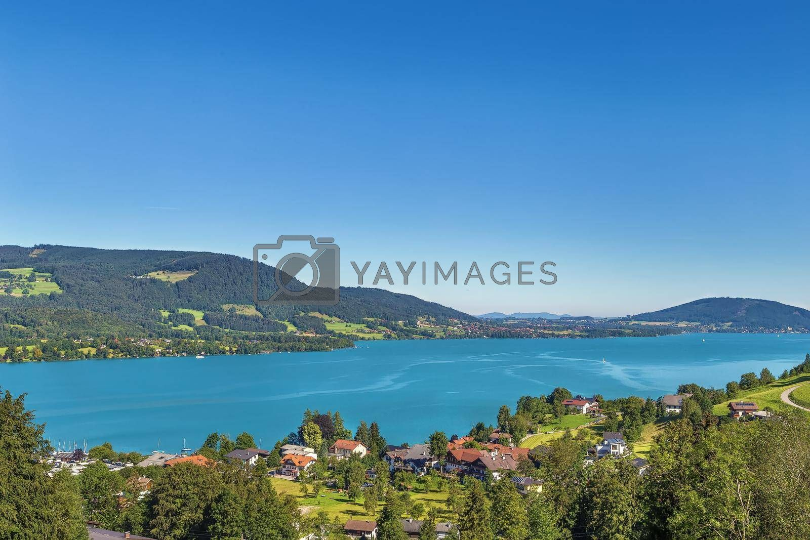 Royalty free image of View of Attersee, Austria by borisb17