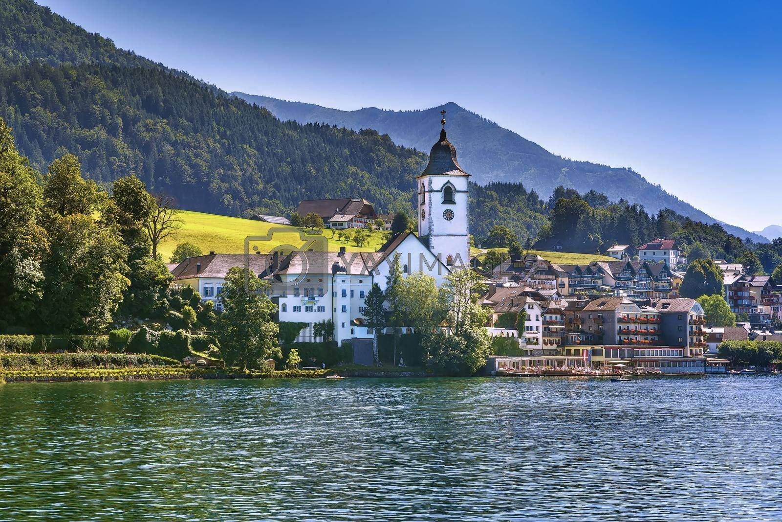Royalty free image of View of St. Wolfgang, Austria by borisb17