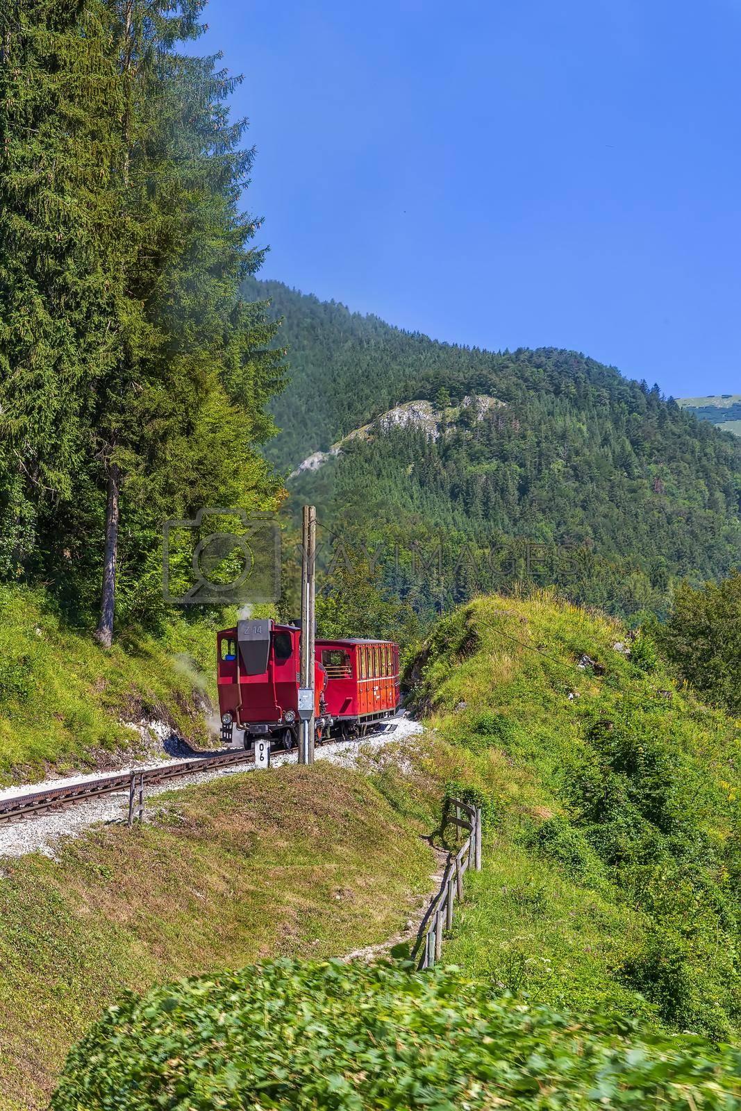 Royalty free image of Schafberg Railway, Austria by borisb17
