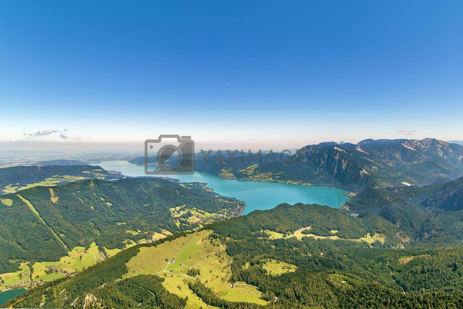 Royalty free image of View from Schafberg mountain, Austria by borisb17