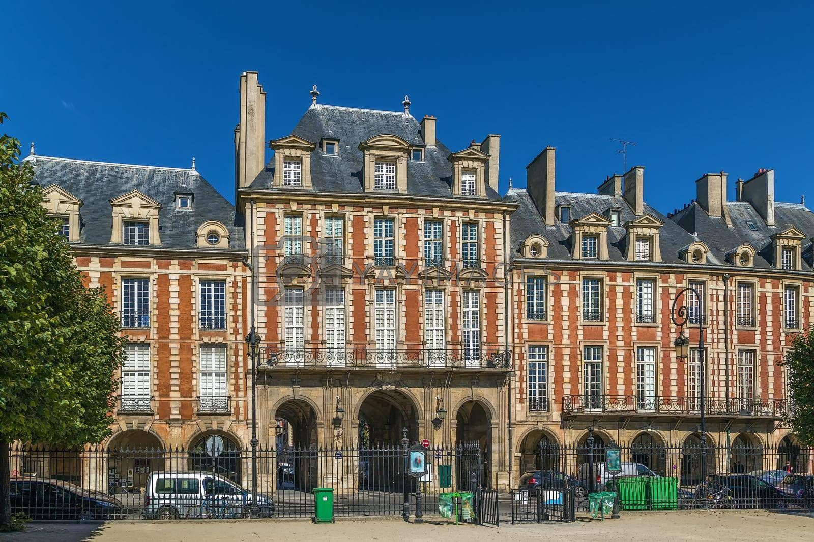 Royalty free image of Place des Vosges, Paris, France by borisb17