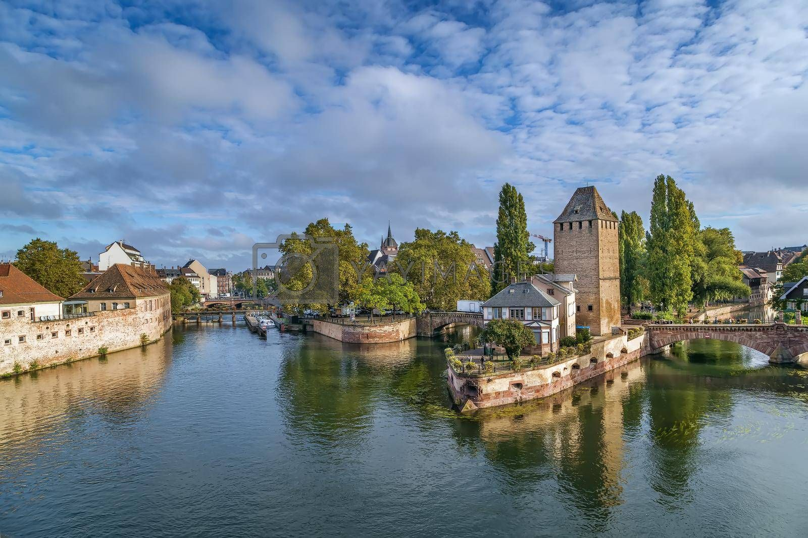 Royalty free image of Bridge Ponts Couverts, Strasbourg, France by borisb17