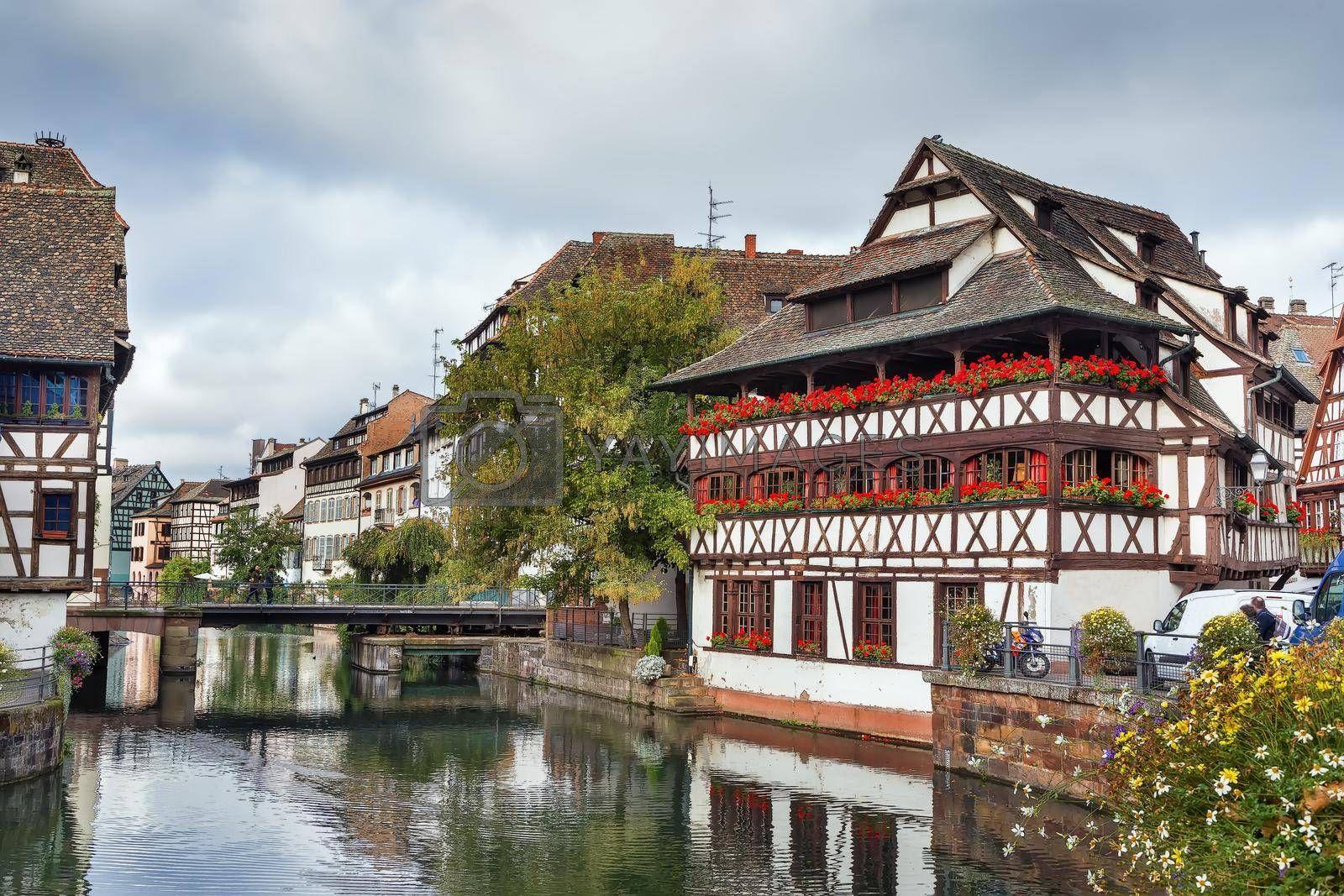 Royalty free image of Embankment of the Ill river, Strasbourg by borisb17