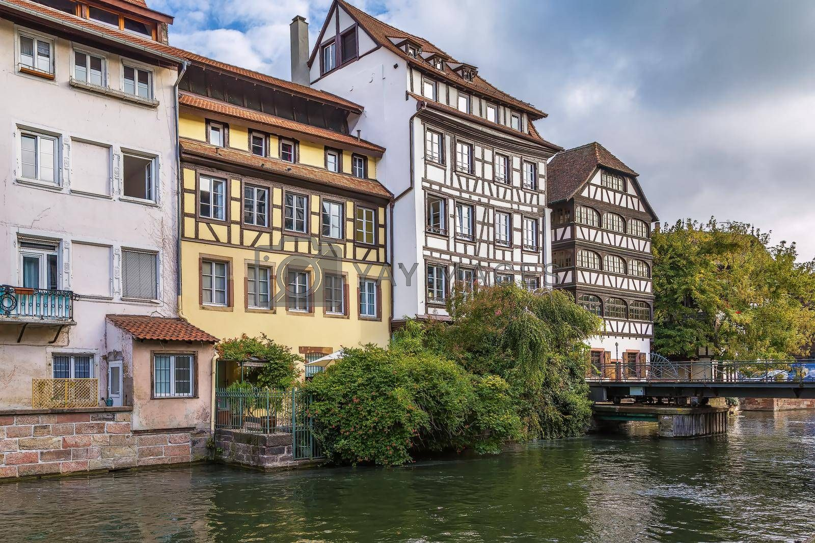 Royalty free image of Embankment of the Ill river, Strasbourg, France by borisb17