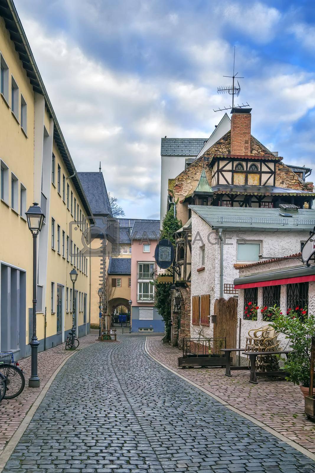 Royalty free image of Street in Frankfurt, Germany by borisb17