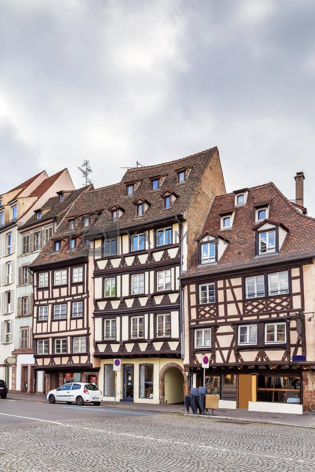 Royalty free image of Street in Strasbourg, France by borisb17