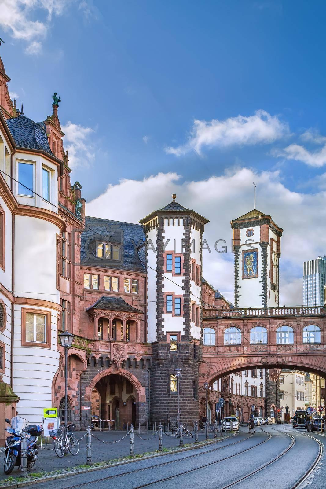 Royalty free image of New city hall, Frankfurt, Germany by borisb17
