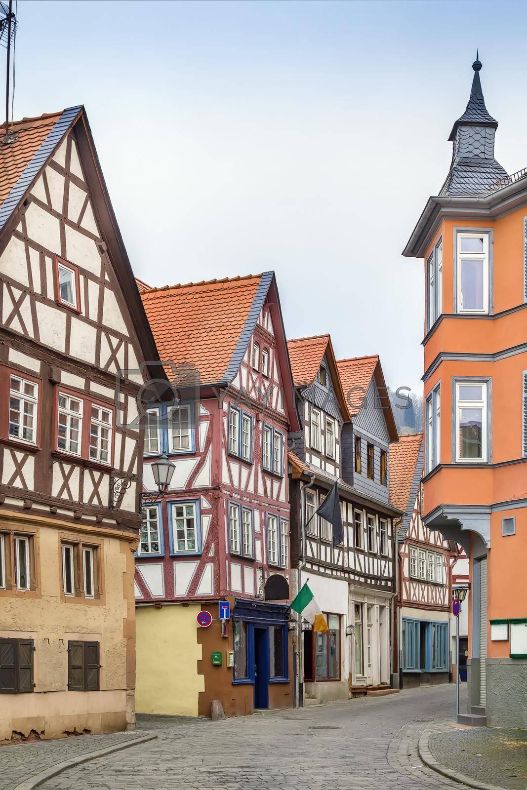 Royalty free image of Street in Budingen, Germany by borisb17